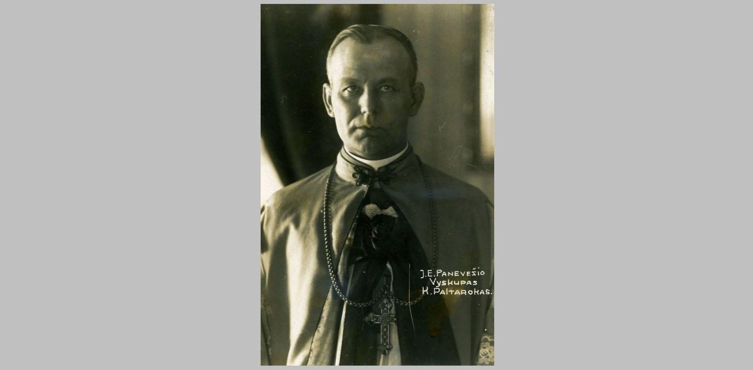 Vyskupas Kazimieras Paltarokas konsekracijos dieną. 1926.05.02. PAVB F76-47