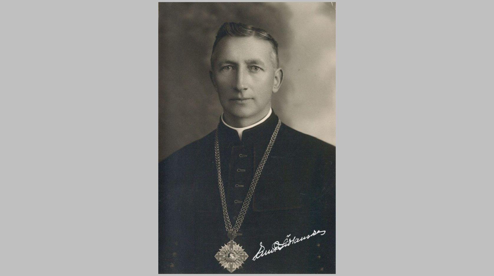 Prelatas Povilas Šidlauskas. Apie 1938 m. Nuotrauka iš Kristupo Šidlausko asmeninio archyvo