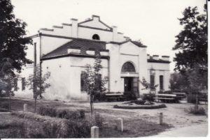Senasis Panevėžio dramos teatras. 1948 m. Fotogr. Kazimiero Vitkaus. PAVB FKV-288/9