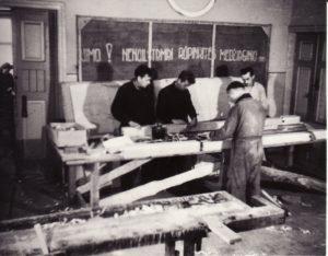 Stalių dirbtuvės. 1948 m. Fotogr. Kazimiero Vitkaus. PAVB FKV-288/16