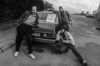 Grupė APS: Aleksandravičius, Povilaitis, Saladūnas. Nida. 1993 m.