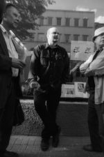 Lietuvos nacionalinės kultūros ir meno premijos laureatai Povilas Ričardas Vaitiekūnas, Algimantas Aleksandravičius ir Petras Repšys. Vilnius. 2002 m.