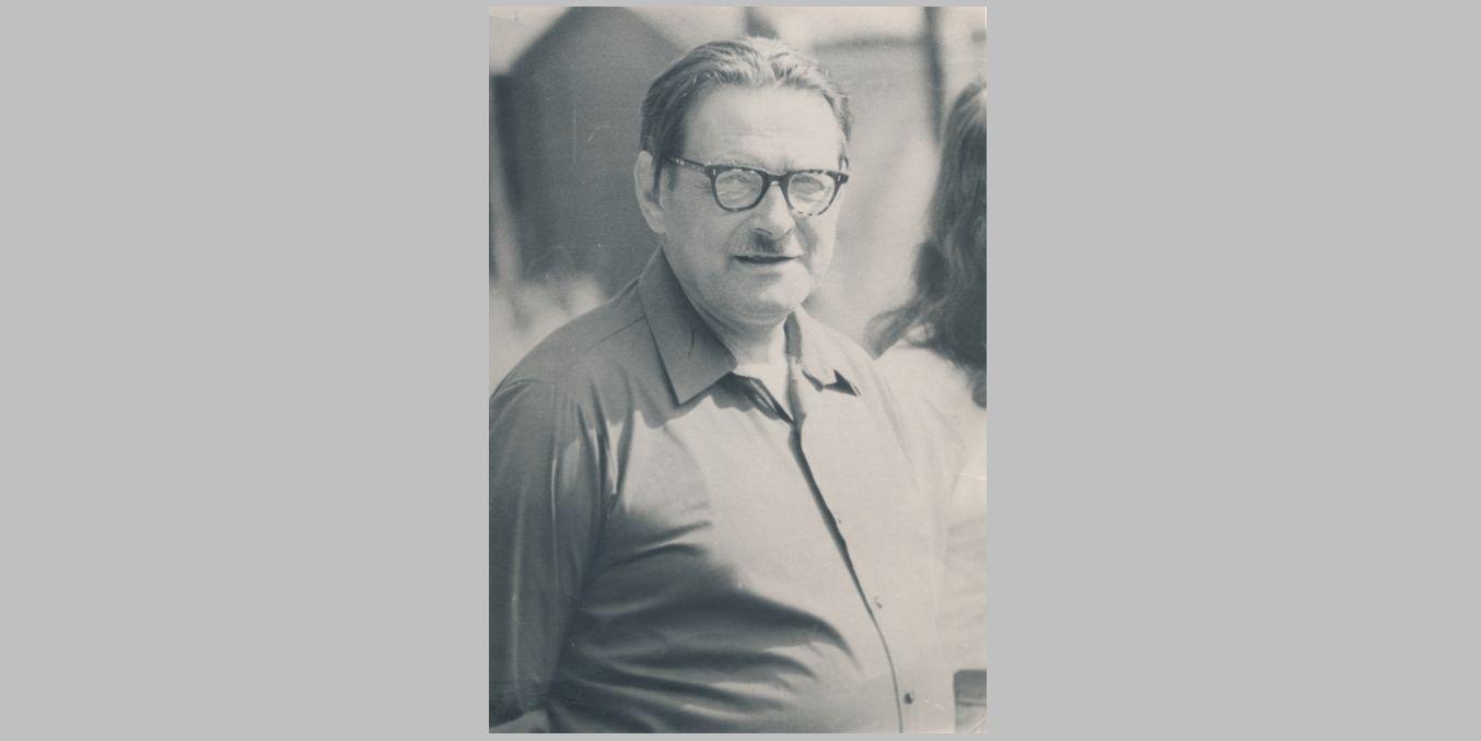 Pedagogas, muzikas Juozas Slėnys (1920–1989). 1971 m. Fotogr. Jono Šukio. Panevėžio apskrities Gabrielės Petkevičaitės-Bitės viešoji biblioteka, Juozo Slėnio fondas F18-68