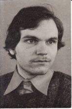 Julius Tamošiūnas (g. 1958 m.). Teatre nuo 1977 m. Fotogr. Kazimiero Vitkaus. PAVB FKV-403/4