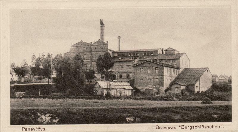 """Alaus daryklos """"Kalnapilis"""" pastatas. XX a. pradžia. Nuotrauka iš Panevėžio kraštotyros muziejaus rinkinių"""