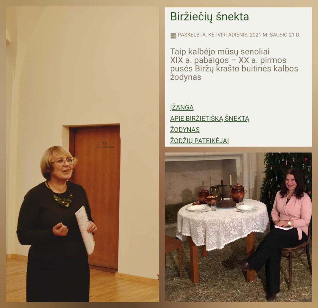 Žodyno autorės Liuda Prunskienė ir Rita Venskūnienė. Nuotrauka iš: https://www.visitbirzai.lt/naujienos/birzu-krasto-buitines-kalbos-zodynas/