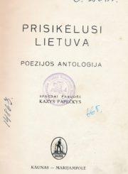 Prisikėlusi Lietuva. Kaunas, 1939. 175 p., [9] iliustr. lap.