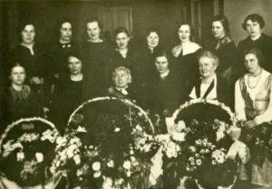 Gabrielės Petkevičaitės-Bitės 75-mečio minėjimas Panevėžyje 1936 m. kovo 18 d. (Panevėžio apskrities G. Petkevičaitės-Bitės viešoji biblioteka)