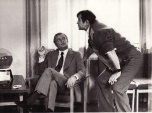 Aktoriai Algimantas Masiulis ir Bronius Babkauskas. Apie 1967 m. PAVB F54-9