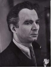 """J. Grušas """"Dūmai"""" (rež. Vaclovas Blėdis, Gediminas Karka), 1955 m. Bronius Babkauskas – Vytautas Būtėnas. Fotogr. Kazimiero Vitkaus. PAVB FKV-457/13"""