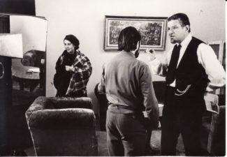 """Bronius Babkauskas (dešinėje) – Abarius filme """"Vyrų vasara"""" (rež. Marijonas Giedrys). 1970 m. PAVB F54-48-2"""