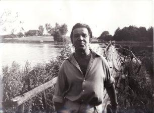 "Bronius Babkauskas – Eigulys filme ""Sadūto tūto"" (rež. Almantas Grikevičius). 1974 m. Fotogr. Juozo Budraičio. PAVB F54-55-1"