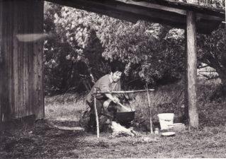 "Bronius Babkauskas – Eigulys filme ""Sadūto tūto"" (rež. Almantas Grikevičius). 1974 m. Fotogr. Juozo Budraičio. PAVB F54-55-3"