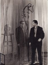 "J. Grušas ""Adomo Brunzos paslaptis"" (rež. Vaclovas Blėdis), 1966 m. Kazimieras Vitkus – Brunza Adomas, Bronius Babkauskas – Adomas Brunza. Fotogr. Kazimiero Vitkaus. PAVB FKV-457/4"