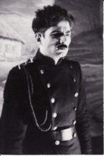 """I. Franko """"Pavogtoji laimė"""" (rež. Juozas Miltinis), 1949 m. Bronius Babkauskas – Michailas Gurmanas. Fotogr. Kazimiero Vitkaus. PAVB FKV-104/1-1"""