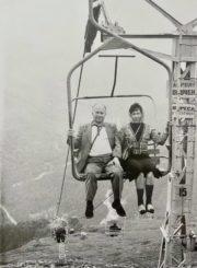 Česys Gediminas ir Danutė Cemnolonskiai Kaukazo kalnuose. 1982 m. Kęstučio Cemnolonskio asmeninis archyvas