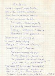 Cemnolonskis, Česys Gediminas (1931–1991). Prie Baltijos: [eilėraštis]. 1983.08.19. Panevėžio apskrities Gabrielės Petkevičaitės-Bitės viešoji biblioteka, Česio Gedimino Cemnolonskio fondas F105