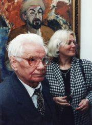 Aktoriai Vaclovas Blėdis ir Gražina Urbonavičiūtė J. Miltinio palikimo studijų centre. 1998 m. Fotogr. Sergejaus Kašino. Fotografija iš aktorės Gražinos Urbonavičiūtės asmeninio archyvo