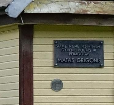 Atminimo lenta Matui Grigoniui. Giedriaus Zauros nuotrauka
